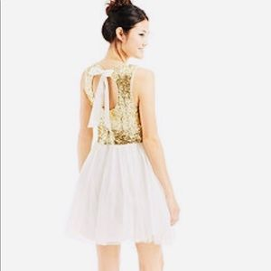 B. Darlin white and gold Cocktail Dress - formal